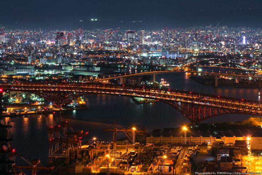 大阪府咲洲庁舎コスモタワー 夜景 2013 05