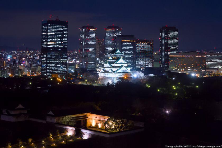 大阪歴史博物館 大阪城 夜景 2013 01