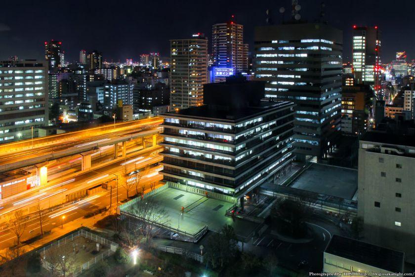 大阪歴史博物館 夜景 2013 02