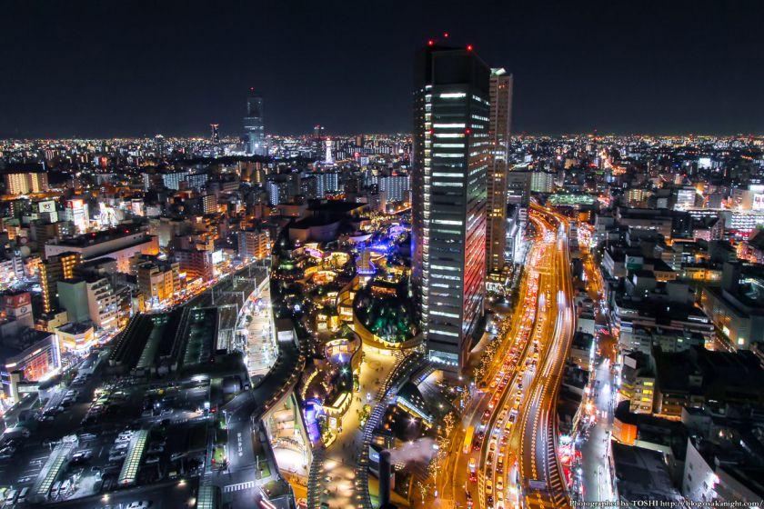 スイスホテル南海大阪 なんばパークス 夜景 2013