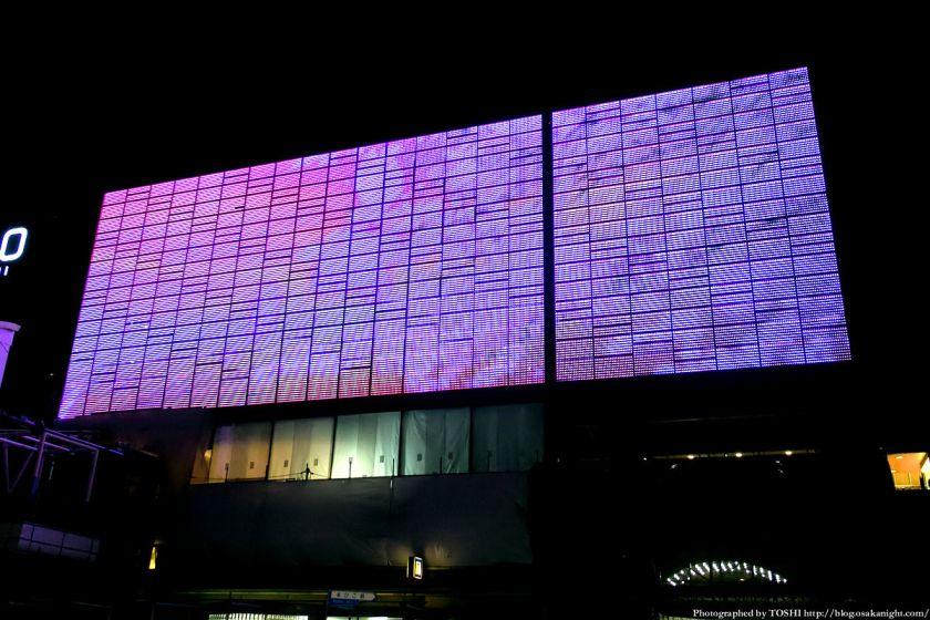 天王寺ミオ プラザ館 外壁ディスプイレイ 夜景 2013年3月 03