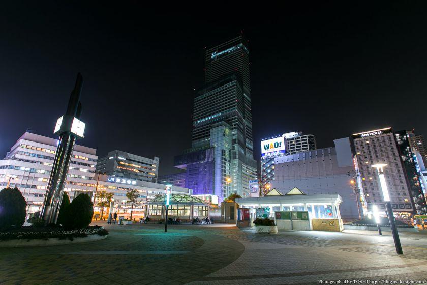 天王寺公園から見るあべのハルカス 夜景 2013年3月 01
