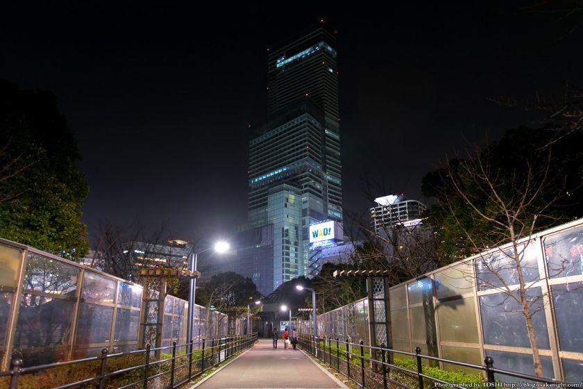天王寺公園から見るあべのハルカス 夜景 2013年3月 02