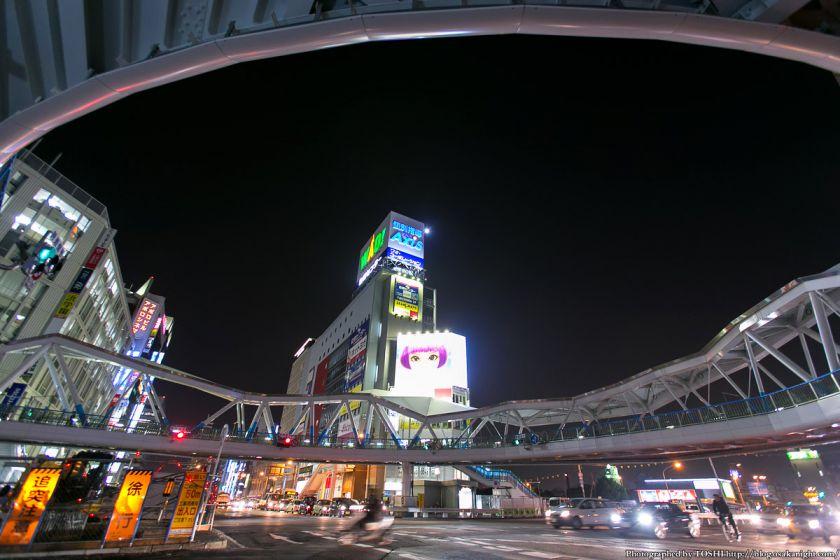 新阿倍野歩道橋 夜景 2013年3月 01