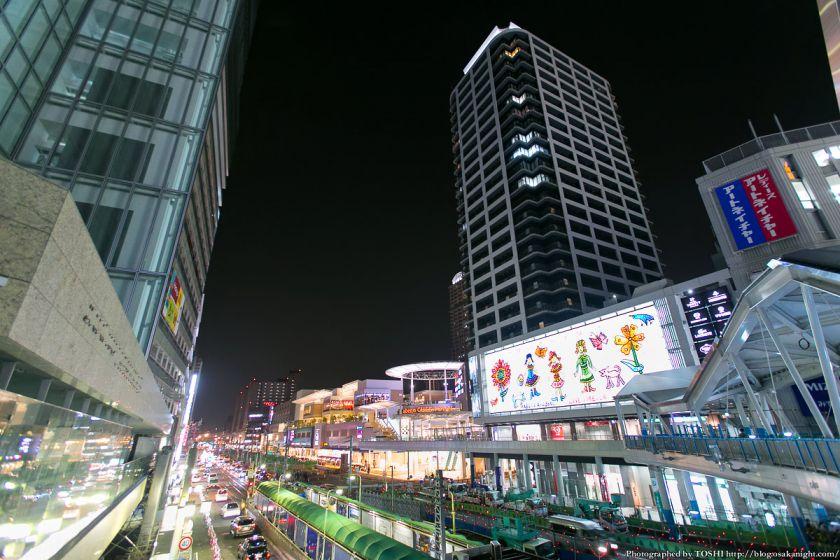 あべのnini & あべのキューズモール 夜景 2013年3月