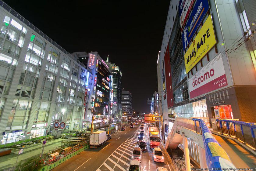 阿倍野 尼崎平野線 夜景 2013年3月