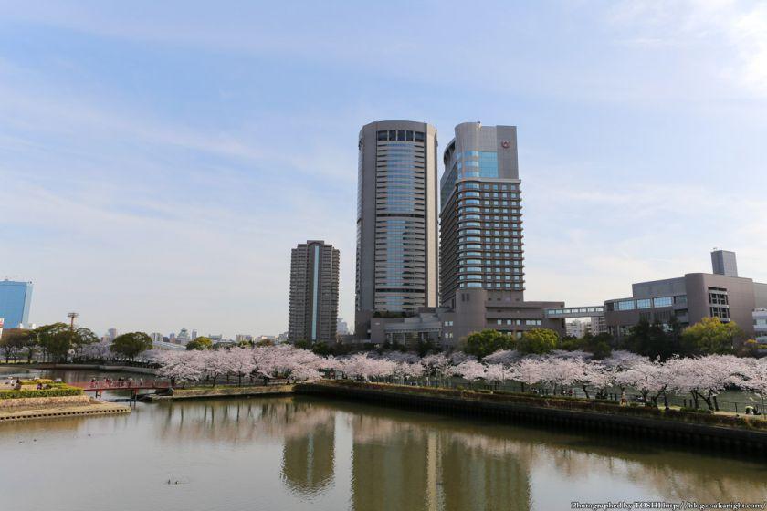 桜之宮公園 桜満開の大川沿い 2013 12