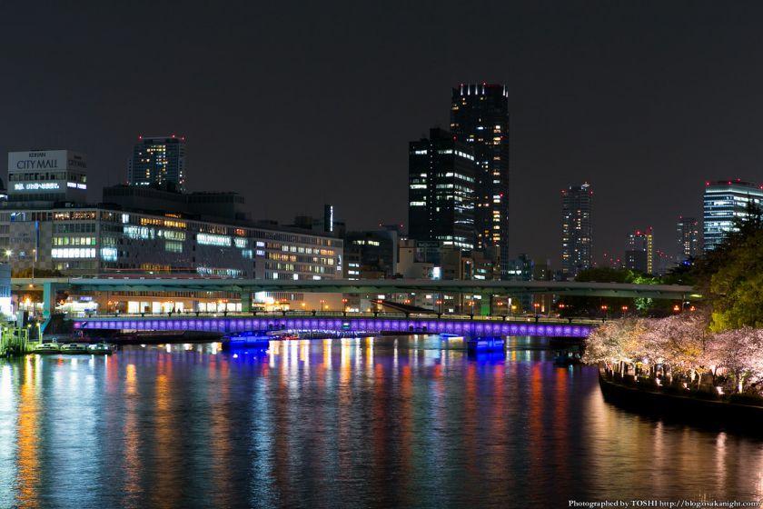 毛馬桜之宮公園 観桜ナイター 2013 06 (川崎橋から天満橋方面2)