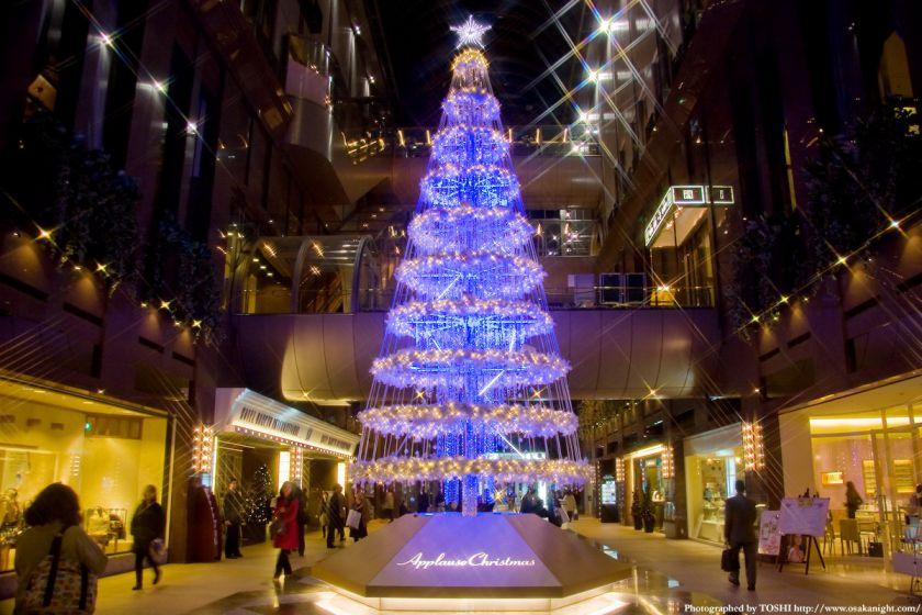 茶屋町アプローズのクリスマスツリー02