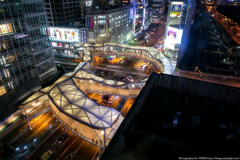 阿倍野歩道橋 ライトアップ夜景 2013年4月 01