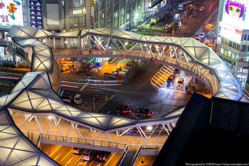 阿倍野歩道橋 ライトアップ夜景 2013年4月 02