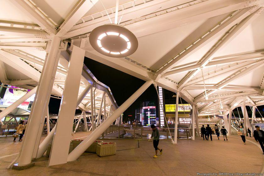 阿倍野歩道橋 ライトアップ夜景 2013年4月 04