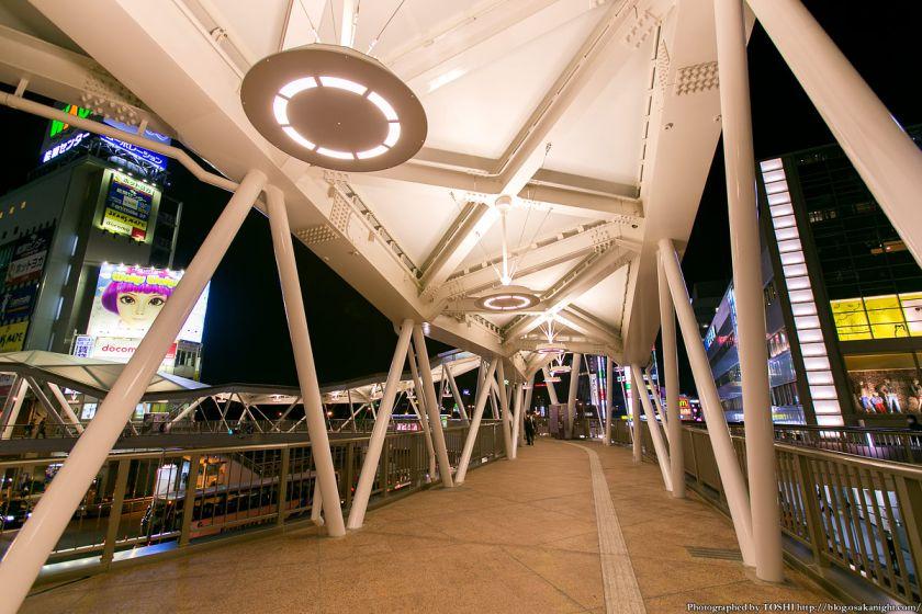 阿倍野歩道橋 ライトアップ夜景 2013年4月 05