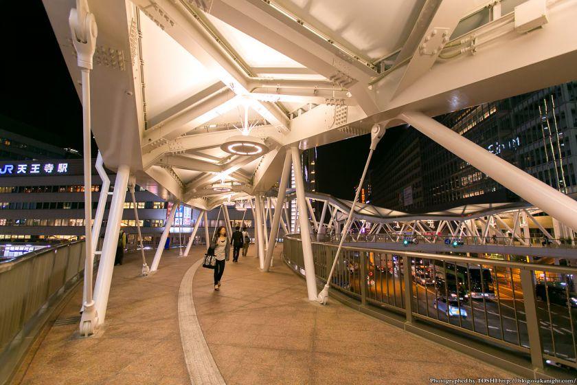 阿倍野歩道橋 ライトアップ夜景 2013年4月 06