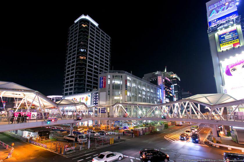 阿倍野歩道橋 ライトアップ夜景 2013年4月 09
