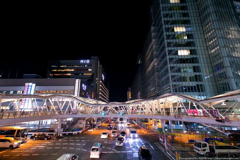 阿倍野歩道橋 ライトアップ夜景 2013年4月 10