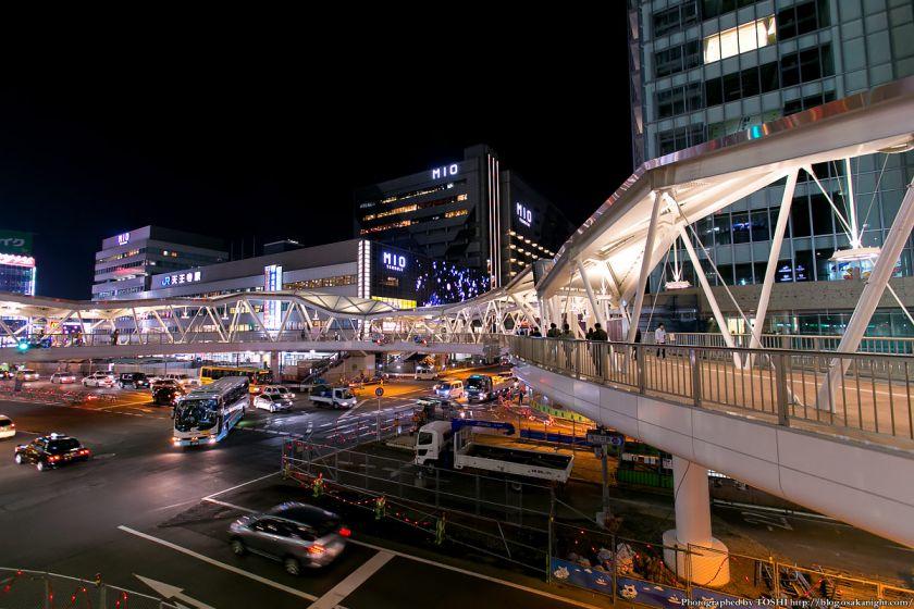 阿倍野歩道橋 ライトアップ夜景 2013年4月 11