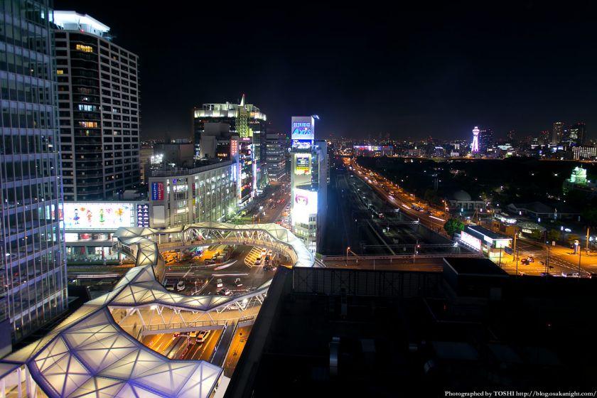 阿倍野歩道橋 ライトアップ夜景 2013年4月 13