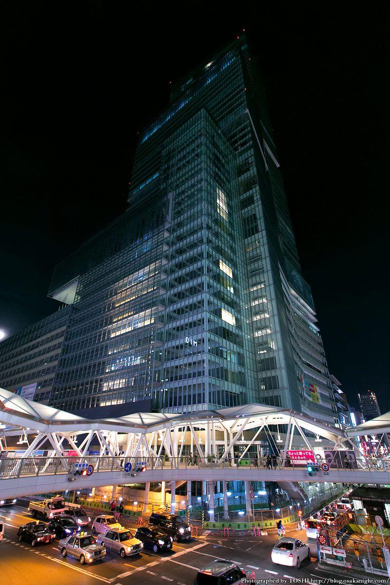 阿倍野歩道橋 ライトアップ夜景 2013年4月 14 (あべのハルカス)
