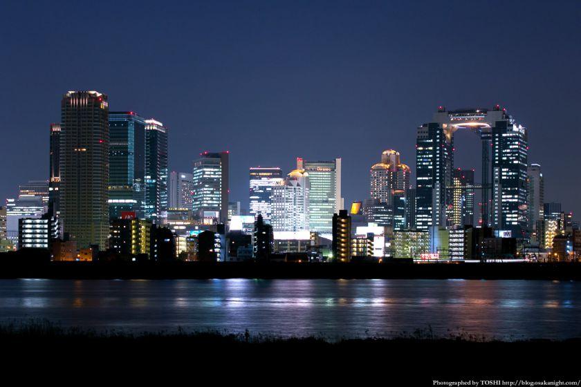 淀川河川公園の夜景 2013 02