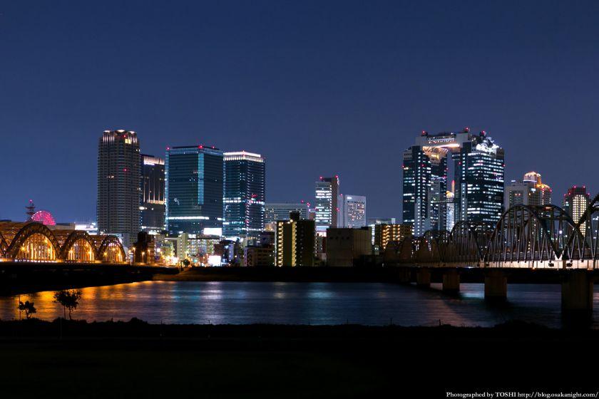 淀川河川公園の夜景 2013 06