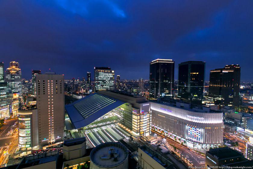 阪急グランドビルから見るJR大阪駅周辺 夜景