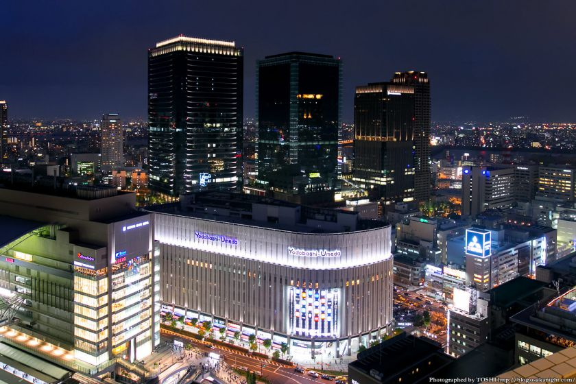 阪急グランドビルから見るグランフロント大阪 夜景
