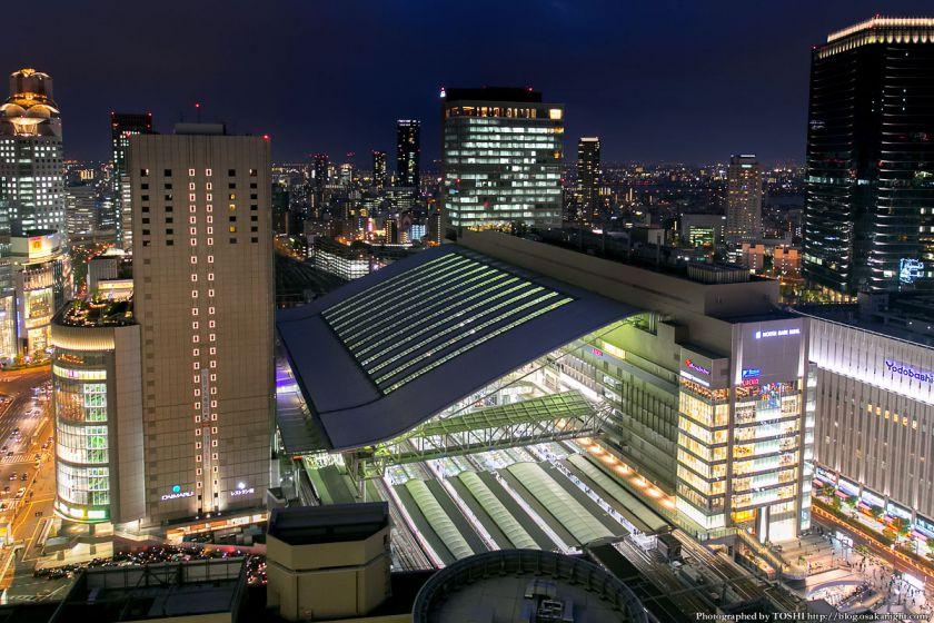 阪急グランドビルから見る大阪ステーションシティ 夜景