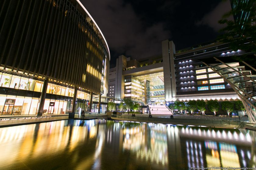 グランフロント大阪 うめきた広場 夜景 11 (水景)