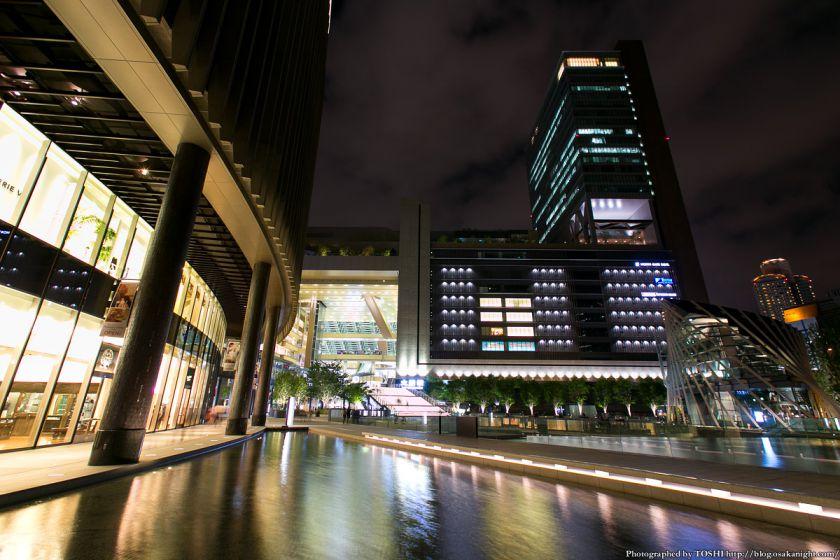 グランフロント大阪 うめきた広場 夜景 13 (水景)