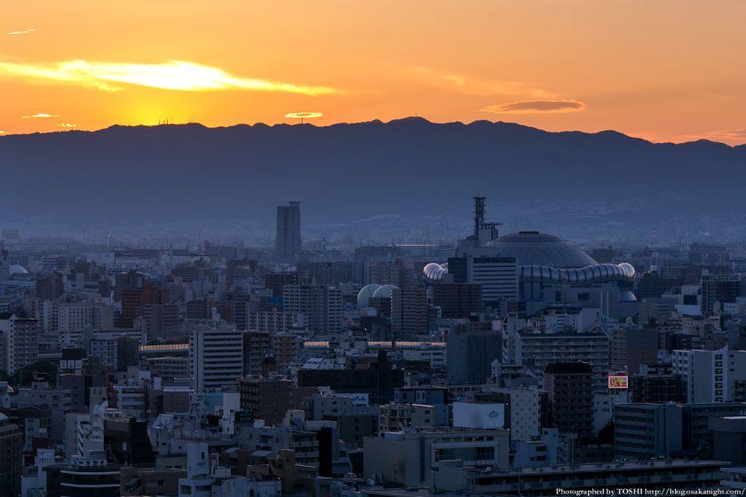 京セラドーム大阪 夕景 from 通天閣 2013年6月