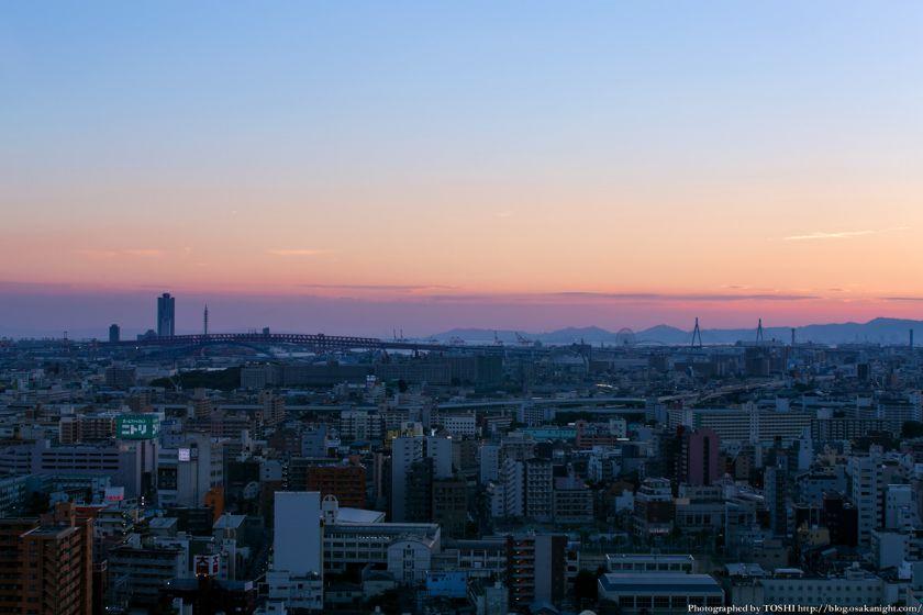 大阪ベイエリア 夕景 from 通天閣 2013年6月