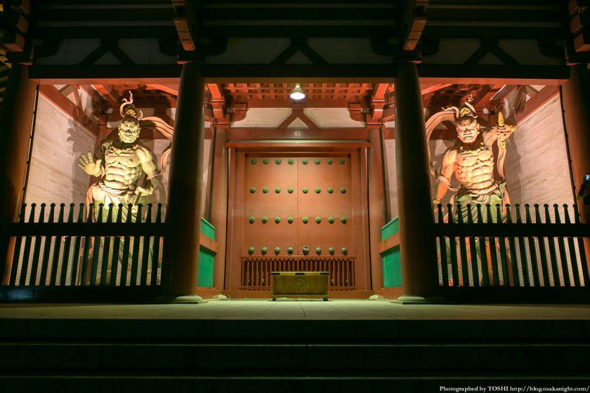 七夕のゆうべ in 四天王寺 2013 金剛力士像