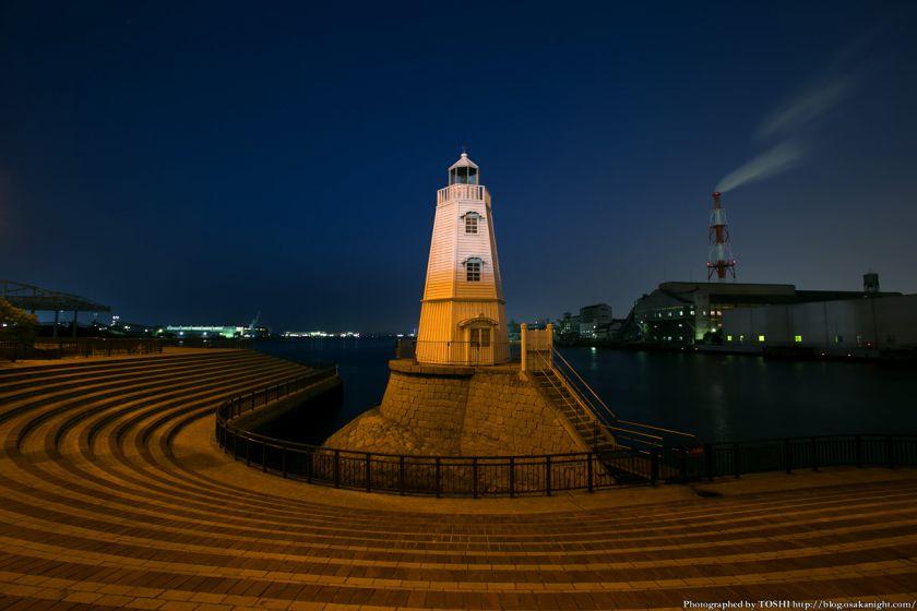 旧堺燈台 夜景 01
