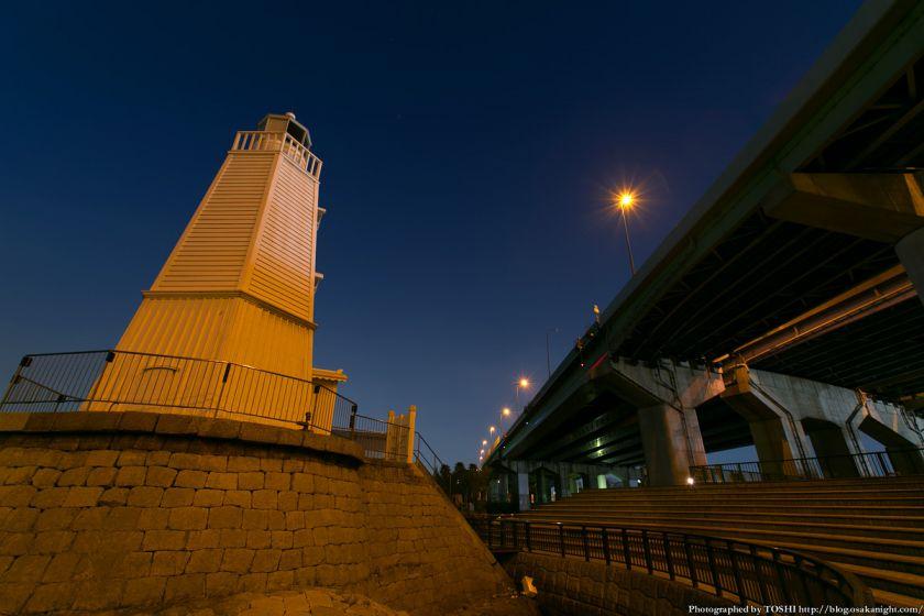 旧堺燈台 夜景 02