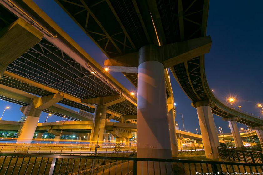 阪神高速湾岸線 大浜IC 夜景