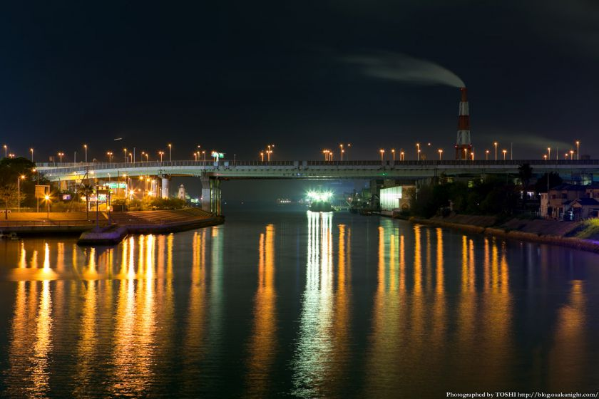 堺旧港の夜景 04