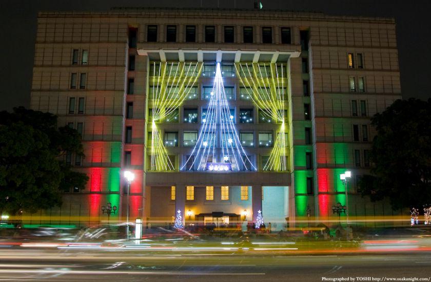 OSAKA光のルネサンス2009 大阪市役所のイルミネーション