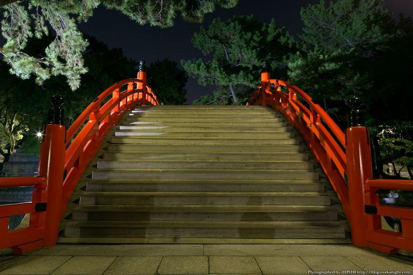 住吉大社 反橋(太鼓橋) 夜景 02