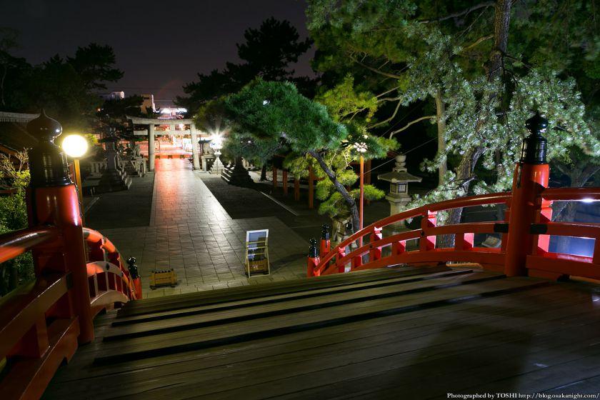 住吉大社 反橋(太鼓橋) 夜景 03