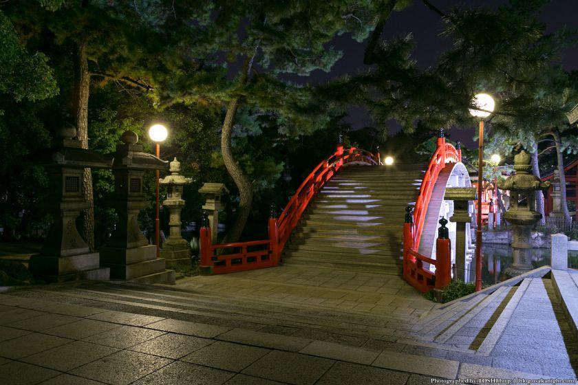 住吉大社 反橋(太鼓橋) 夜景 05