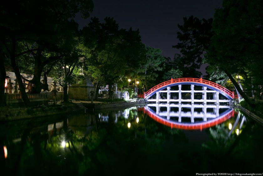 住吉大社 反橋(太鼓橋) ライトアップ夜景 01
