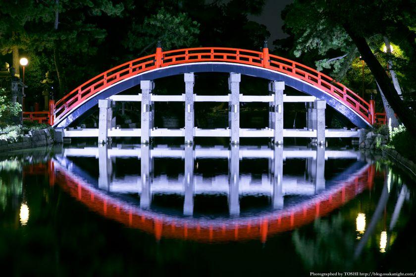住吉大社 反橋(太鼓橋) ライトアップ夜景 02
