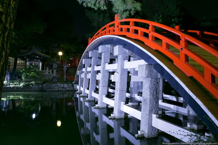 住吉大社 反橋(太鼓橋) ライトアップ夜景 03