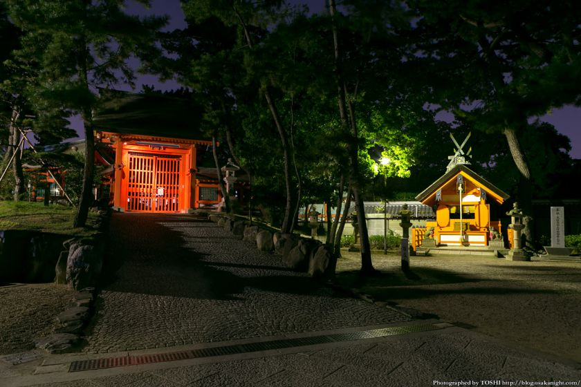 住吉大社 船玉神社 夜景