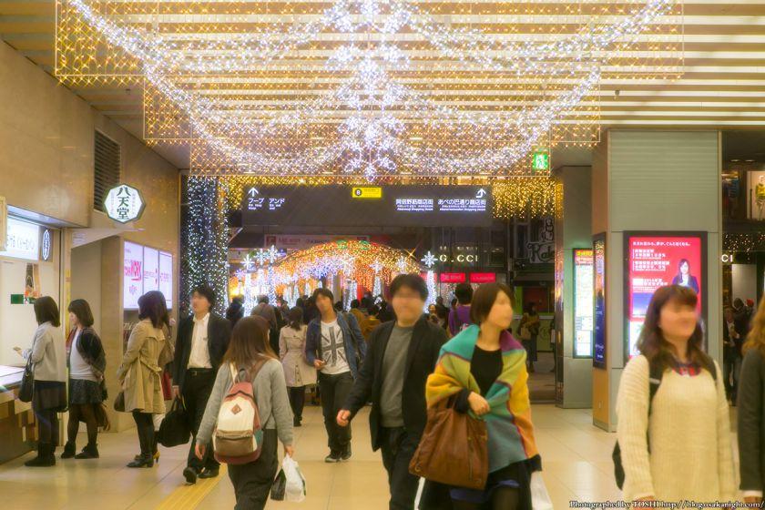 近鉄大阪阿部野橋駅コンコース イルミネーション 2013 01