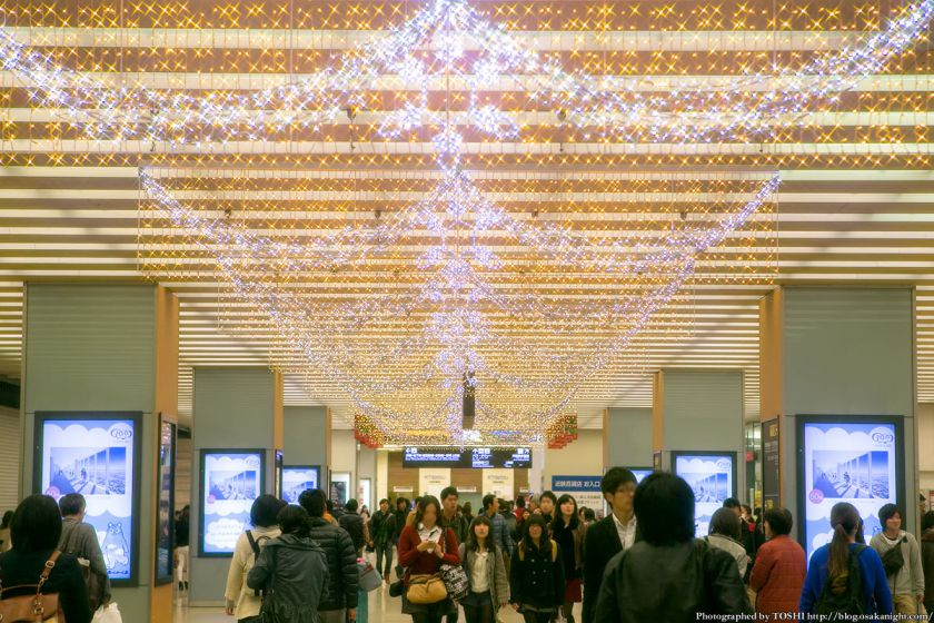 近鉄大阪阿部野橋駅コンコース イルミネーション 2013 02