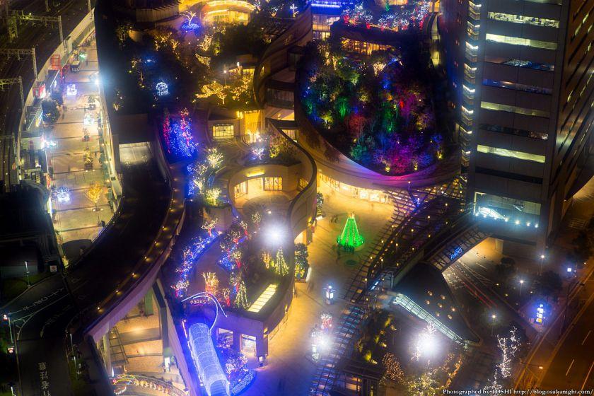 なんば光旅 2013 パークスガーデンの俯瞰