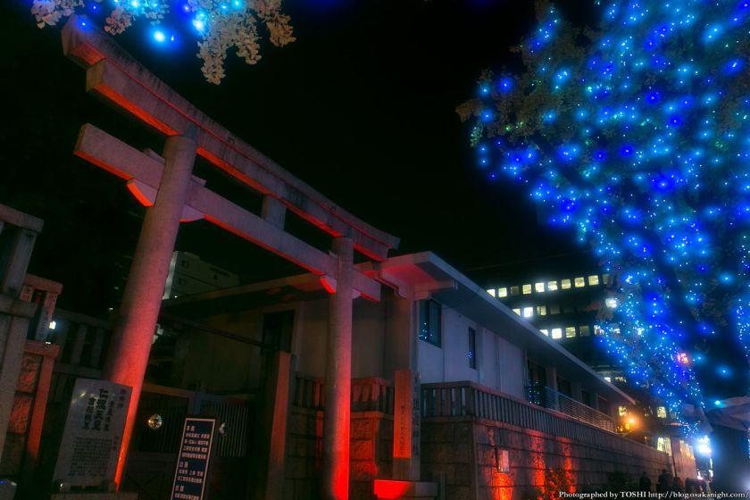 御堂筋イルミネーション 2013 難波神社ライトアップ