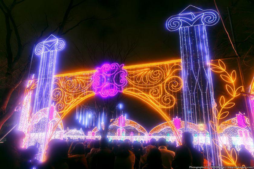 大阪城 イルミネーション 2013 光の回廊 01